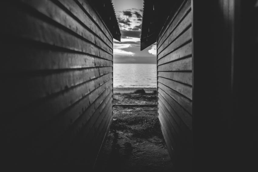 WYWH-Megan-Gardner - empty beach boxes - Dromana - Australia - Wk20
