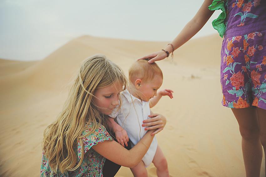 Kirsty Larmour_cousins in the desert_Abu Dhabi_week 18