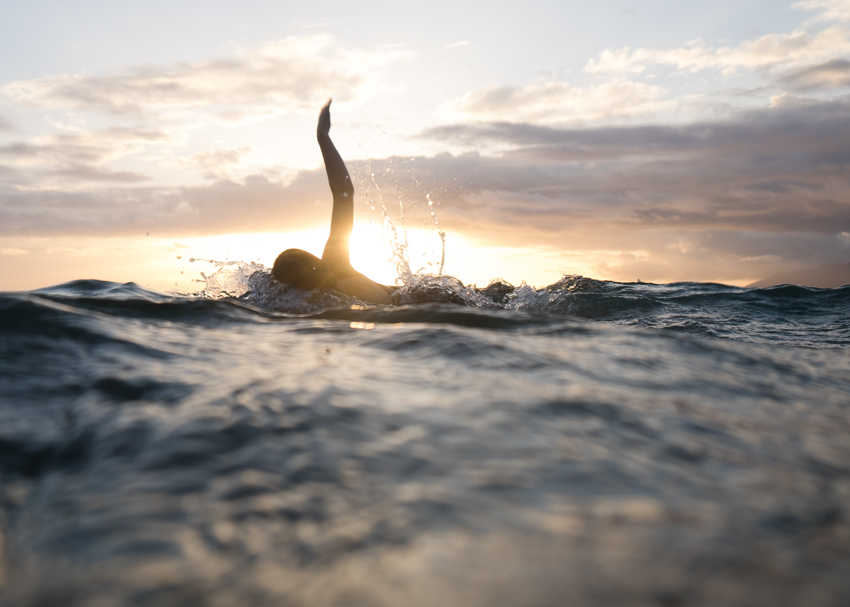 DebSchwedhelm-sunset swim-Hawaii