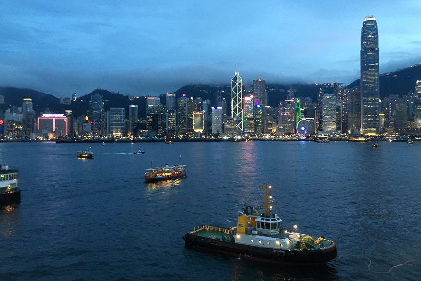 nicolaberry_The view from Ocean Terminal Car Park, Hong Kong