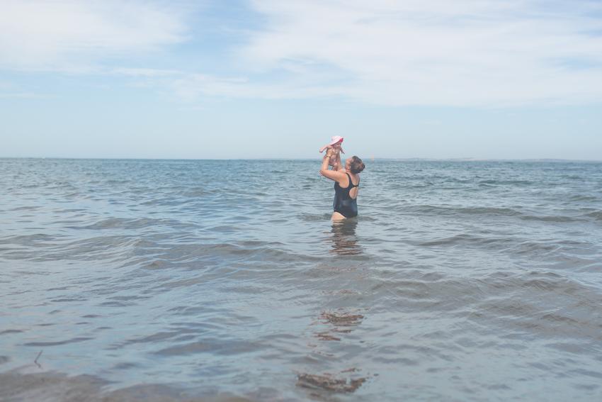 Her first ocean swim-Shoreham-Australia-Megan-Gardner-Wk5