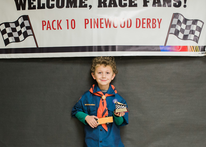 jenc_Pinewood Derby 1st Place!_pennsylvania