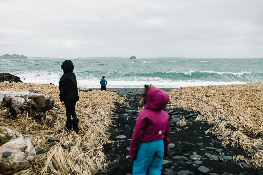 breannapeterson. stormy beach walk. alaska